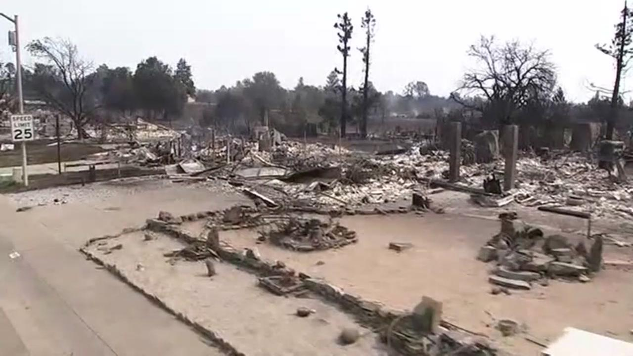 This image from July 27, 2018 shows a home that was destroyed in the Carr Fire in Redding, Calif.