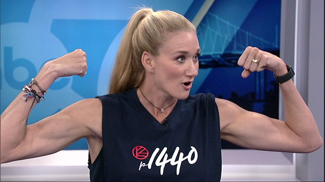 Kerri Walsh Jennings speaks to ABC7 News on Wednesday, August 1, 2018 in San Francisco.