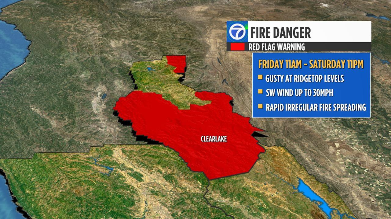 New Evacuations Red Flag Warning Issued For Mendocino Complex Fires