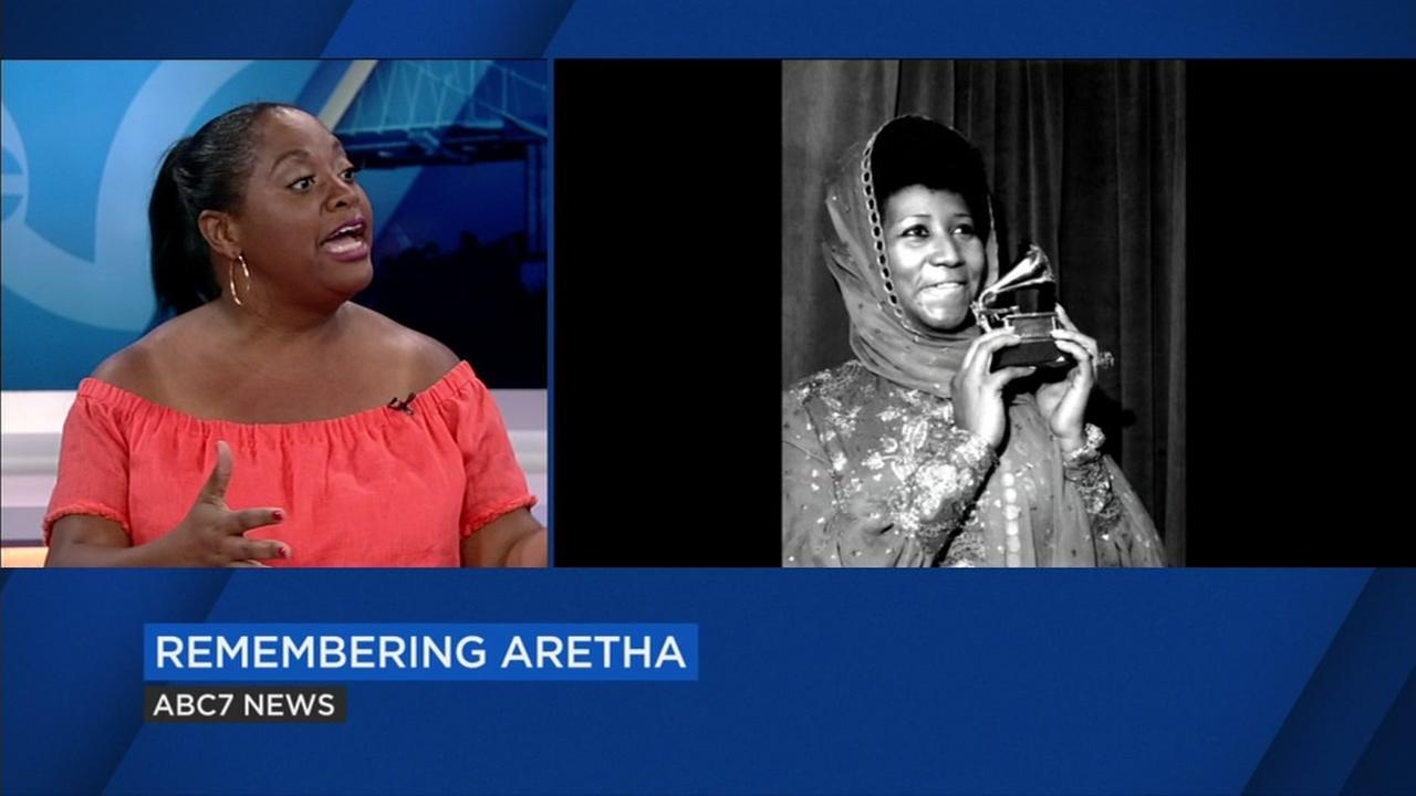Sherri Shepherd talks about Aretha Franklin on ABC7 News on Thursday, Aug. 16, 2018.