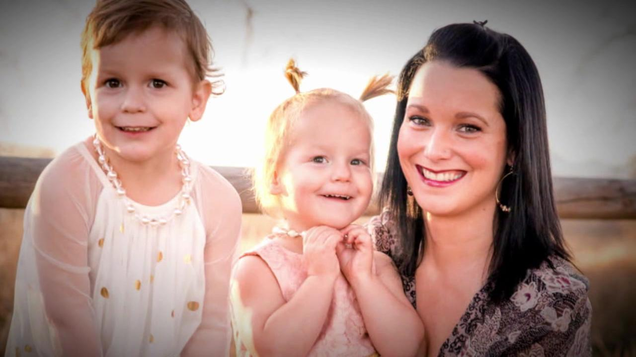 Shannan Watts and her two little girls appear in this undated image.