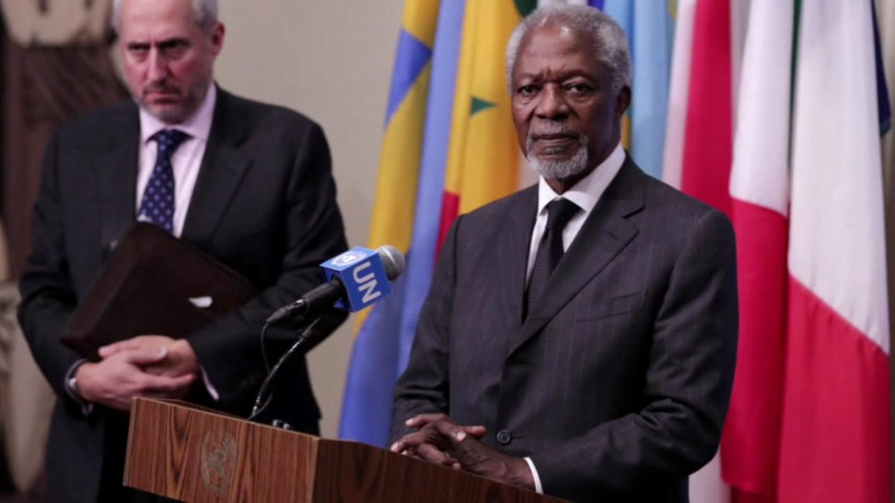 Former UN Secretary-General Kofi Annan is seen in this undated image.