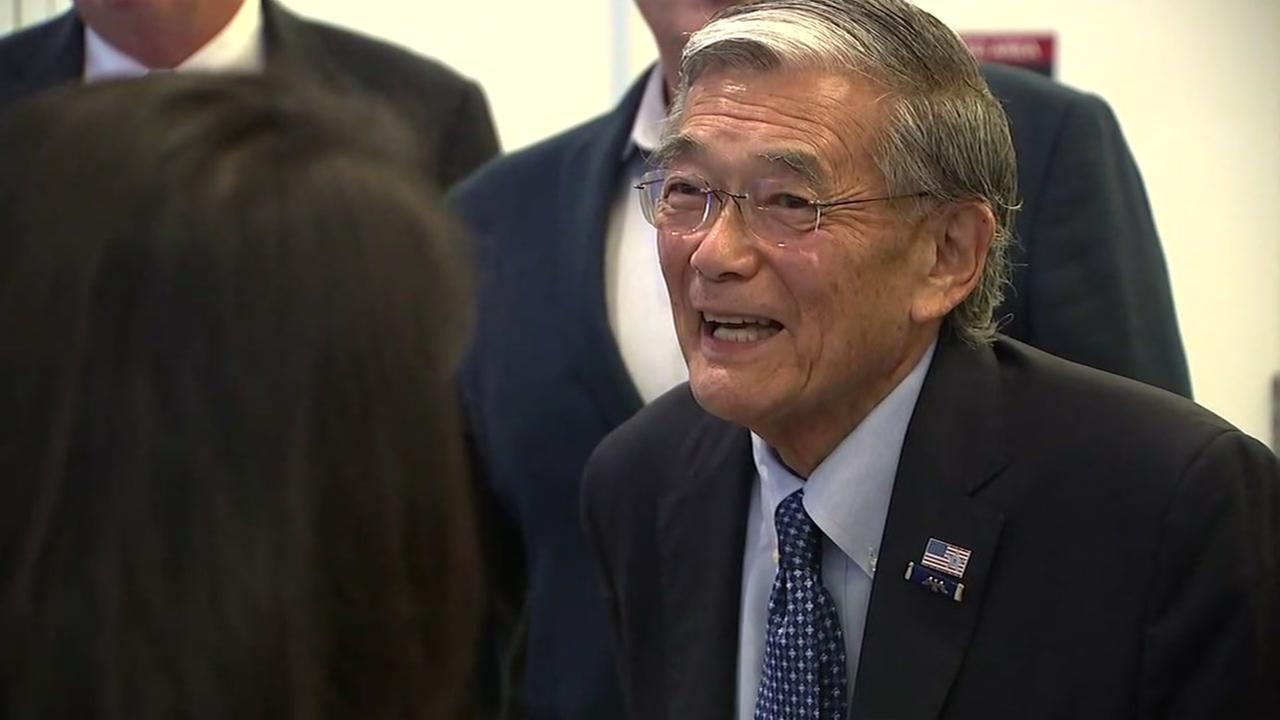 Norman Mineta is seen during an event at an airport named for him in San Jose, Calif. on Monday, August 20, 2018.