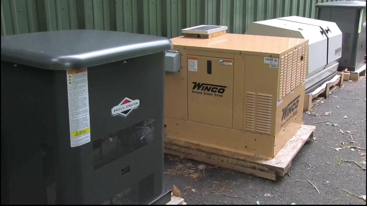 This is an undated image of generators.