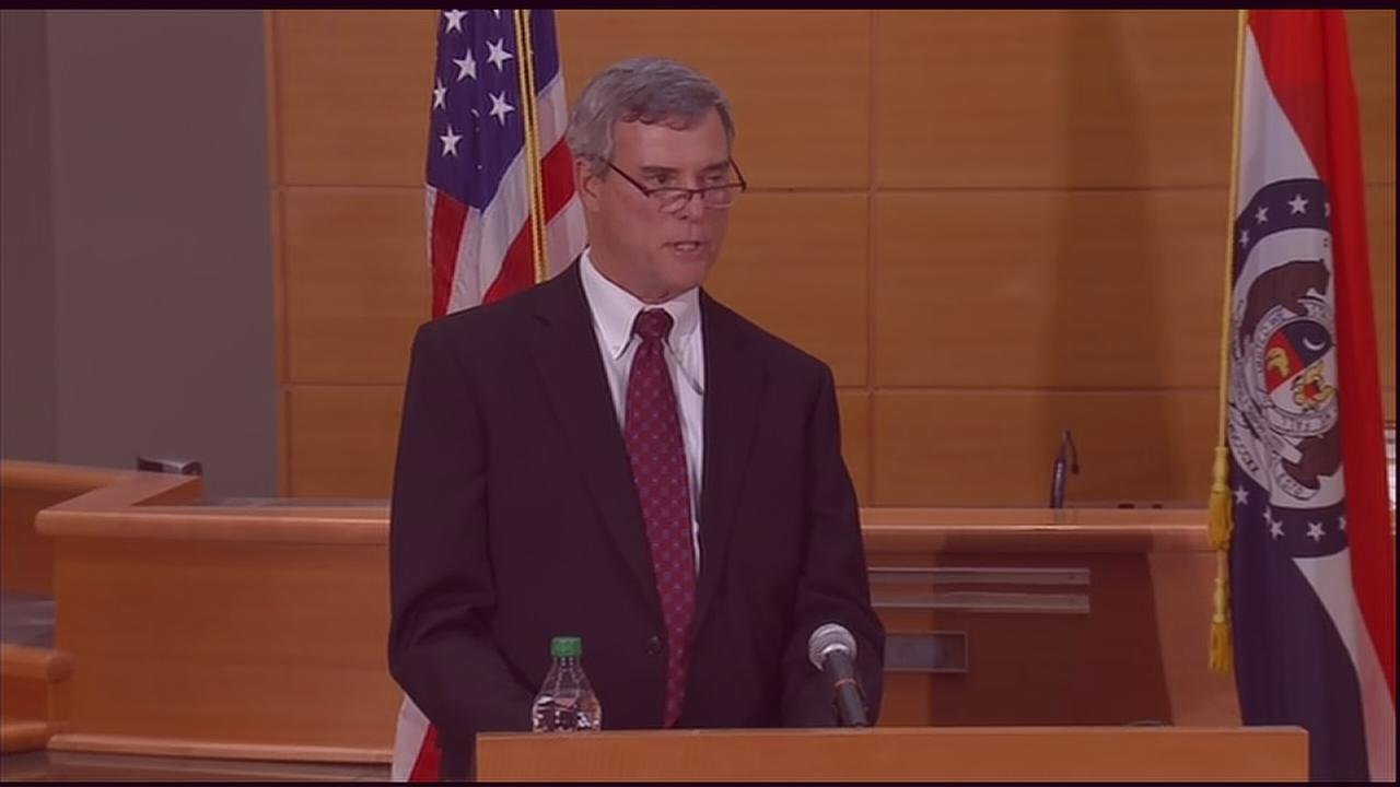 VIDEO: Prosecutor reads decision on Ferguson shooting