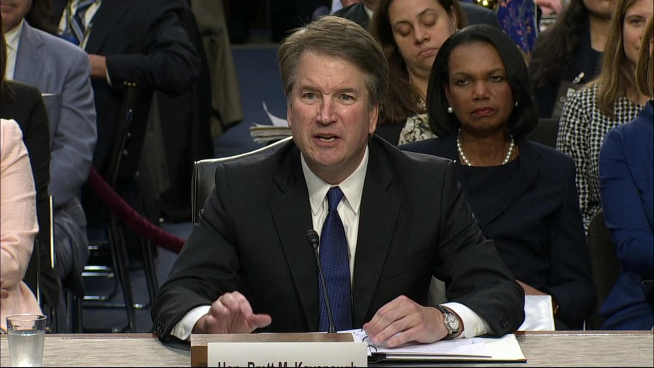 Brett Kavanaugh appears in a hearing in Washington, D.C. on Tuesday, Sept. 4, 2018.