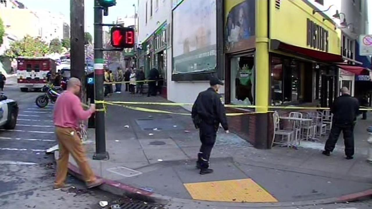Police searching for suspect accused of shooting man in San Franciscos North Beach neighborhood Sunday.