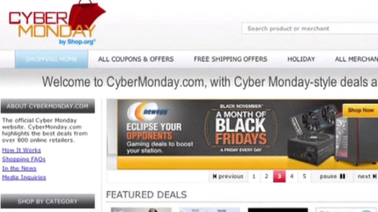 Cyber Monday website