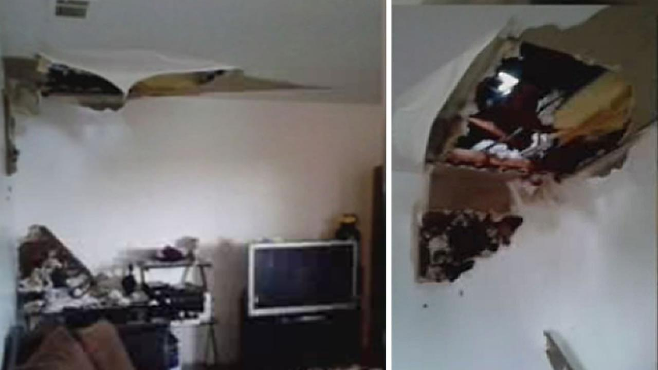 Heavy Rains Cause Leaking Roof Of Antioch Home To Cave In