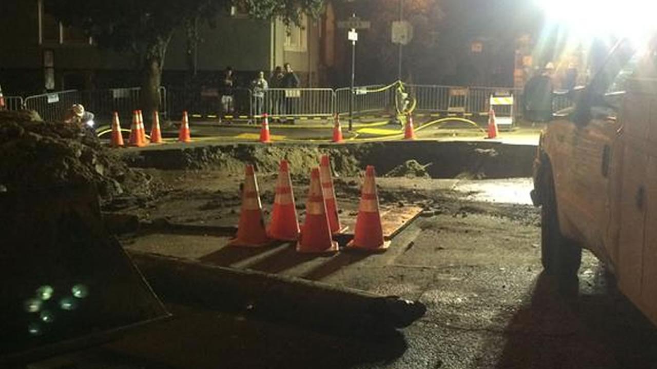 Lake Street sinkhole