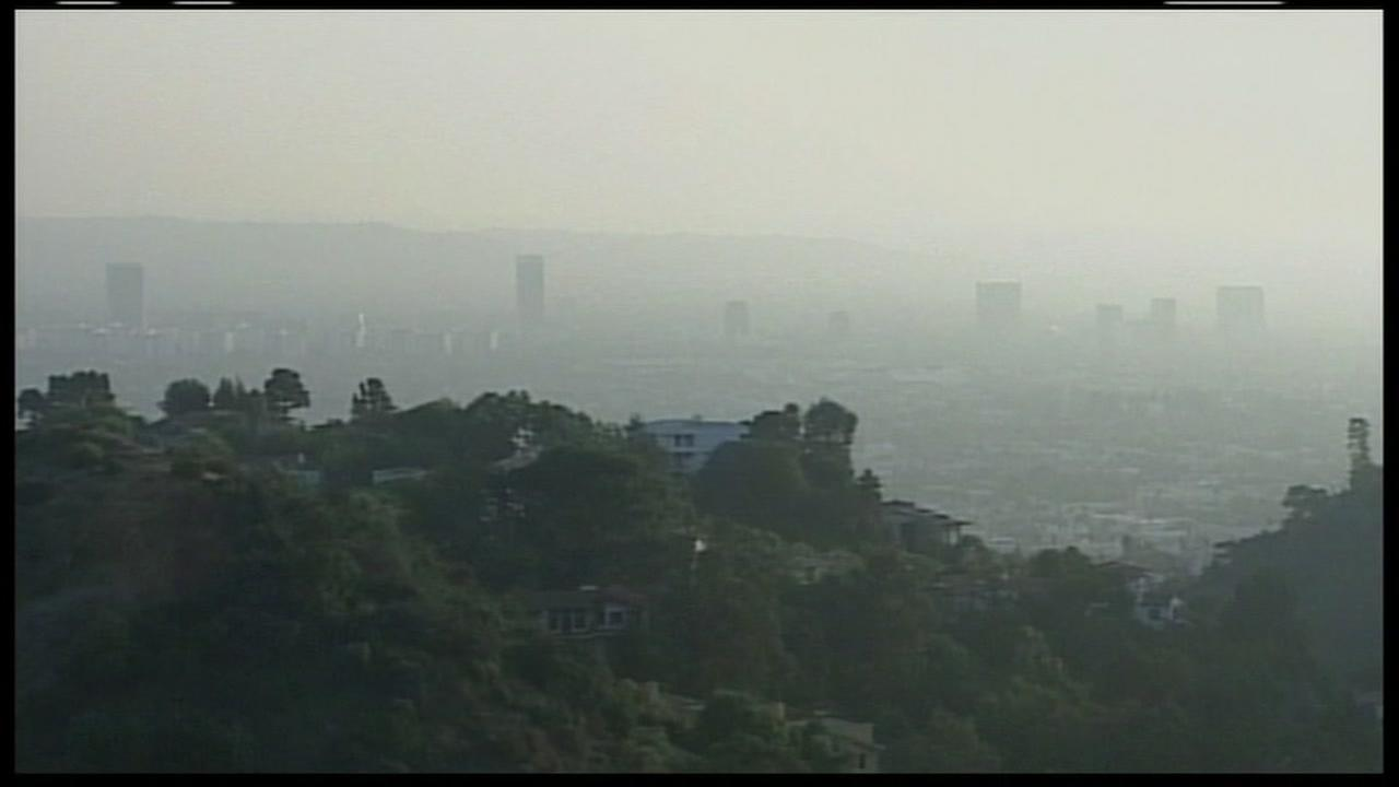 Smoggy skies are seen in the Bay Area in this undated image.