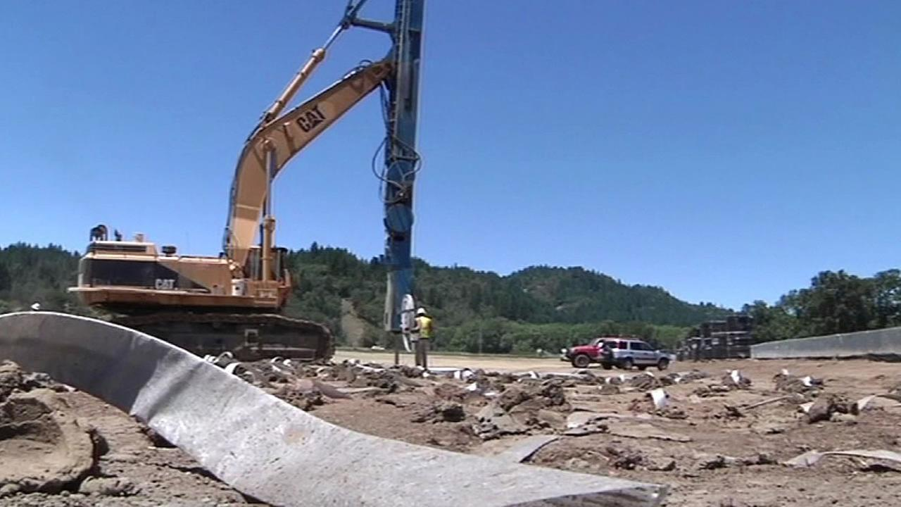 Willits bypass project under construction