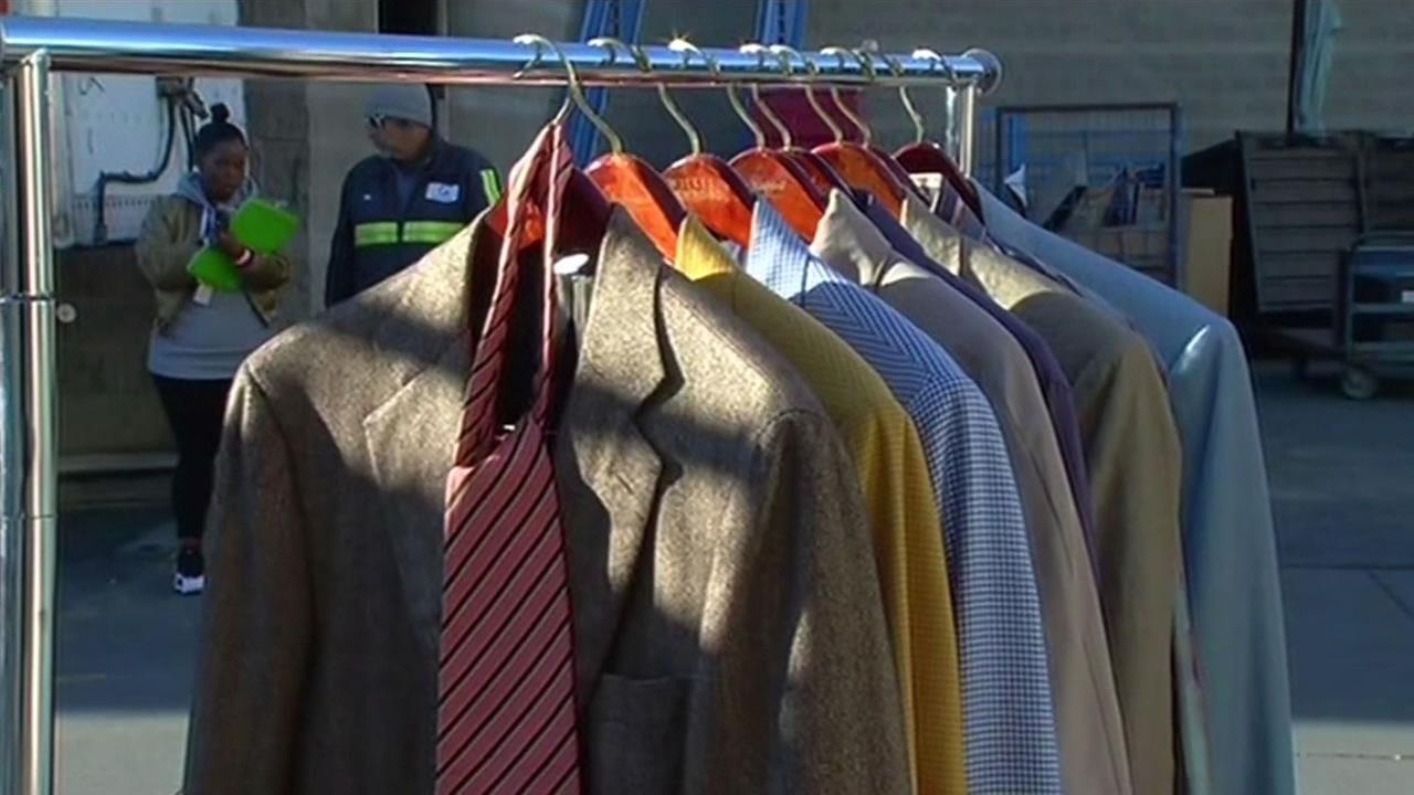 Former Mayor Willie Brown donates his suits in the Goodwills Donate-a-thon.