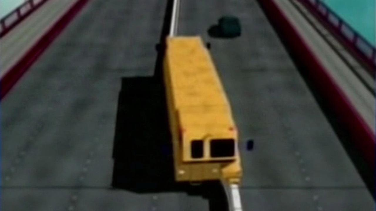 Golden Gate Bridge zipper truck animation