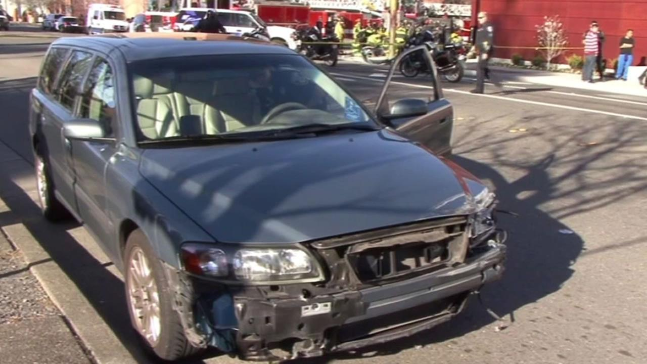 blue Volvo station wagon that was involved in the accident
