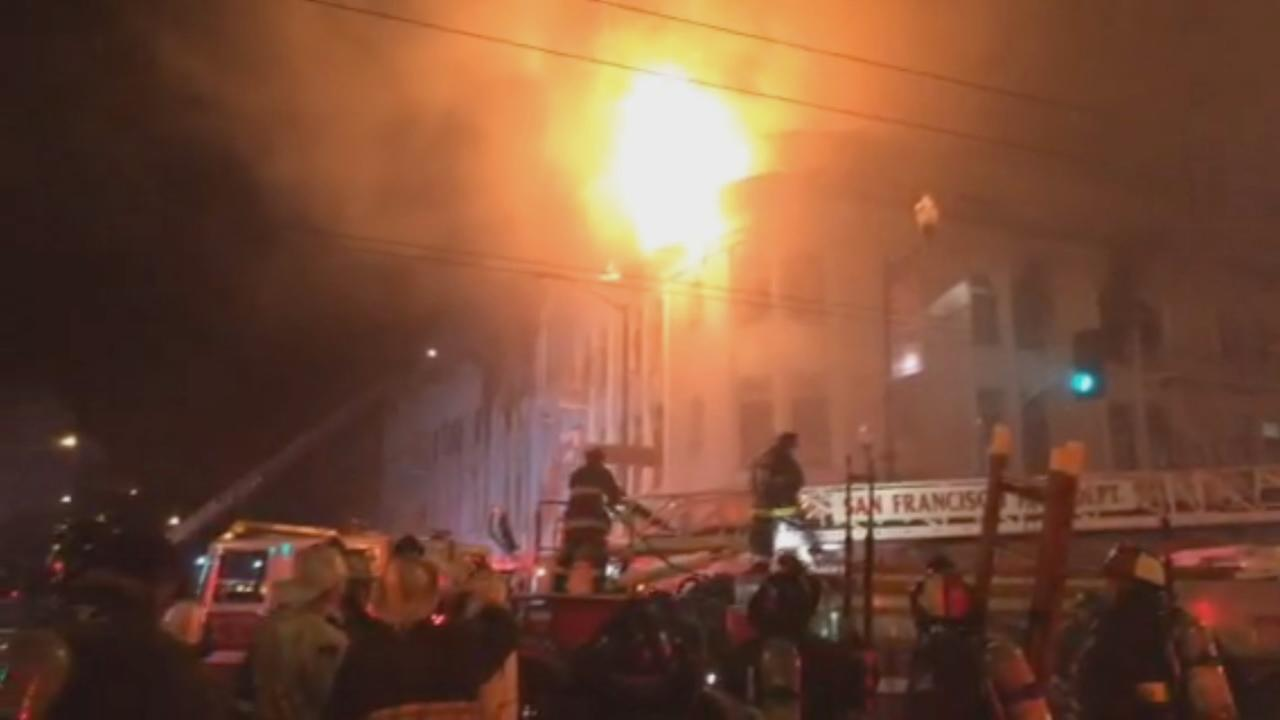 RAW VIDEO: Mission fire from ground level