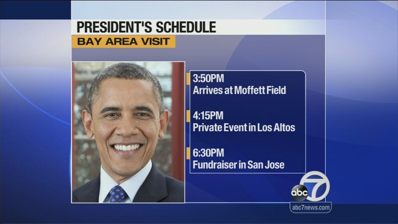 President Obama heading to the Bay Area