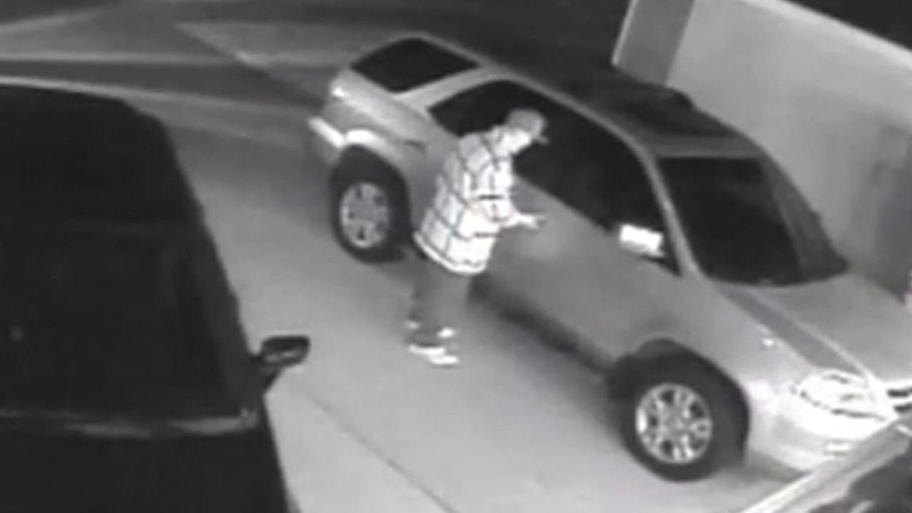 man hacks into car