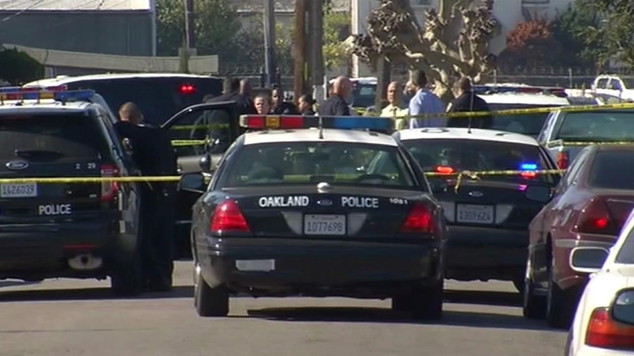 Police are investigating after an officer allegedly shot a knife-wielding man on 88th Avenue in East Oakland Friday morning