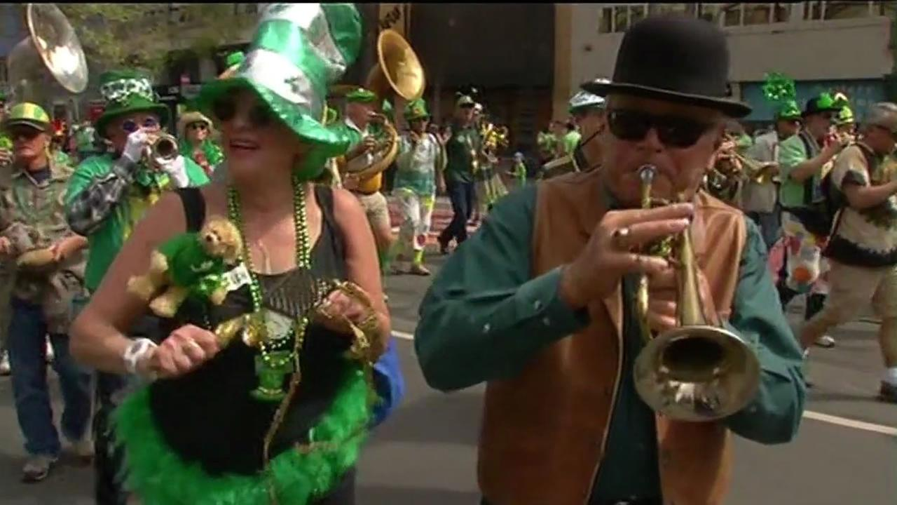 The 164th annual St. Patricks Day parade in San Francisco.