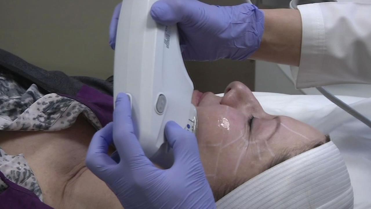 woman undergoing cosmetic procedures