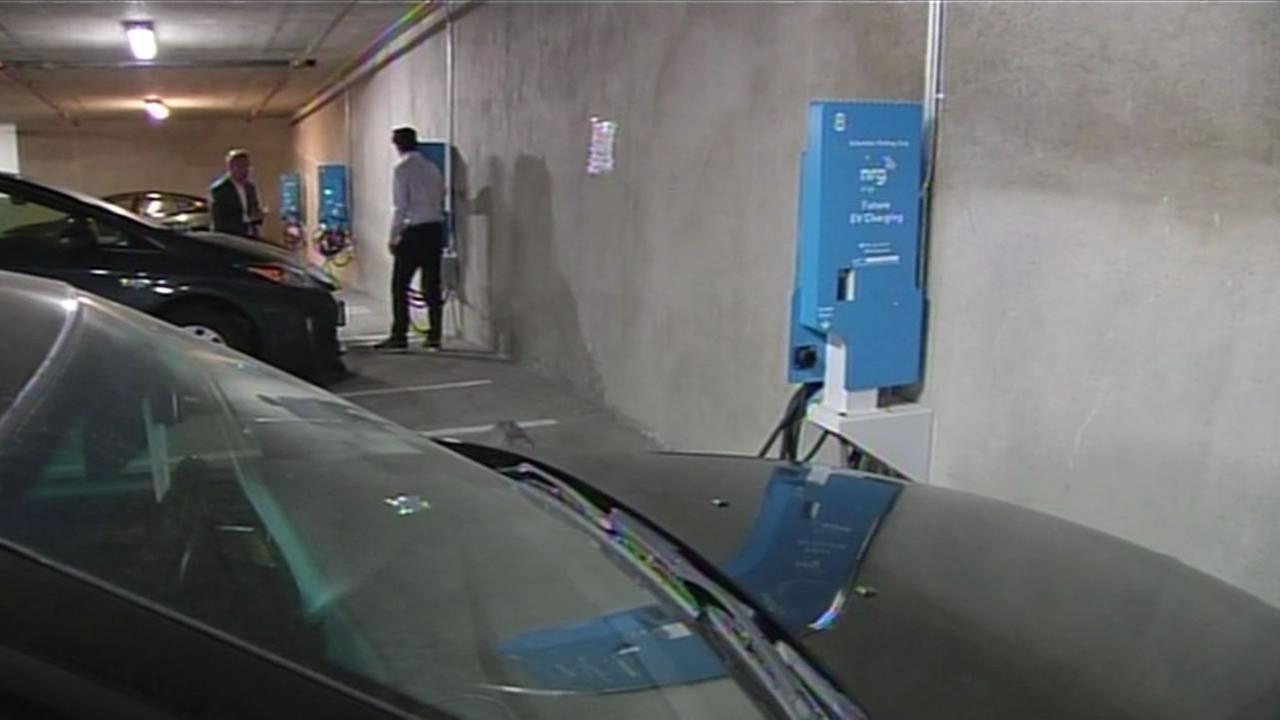 Electric charging station.