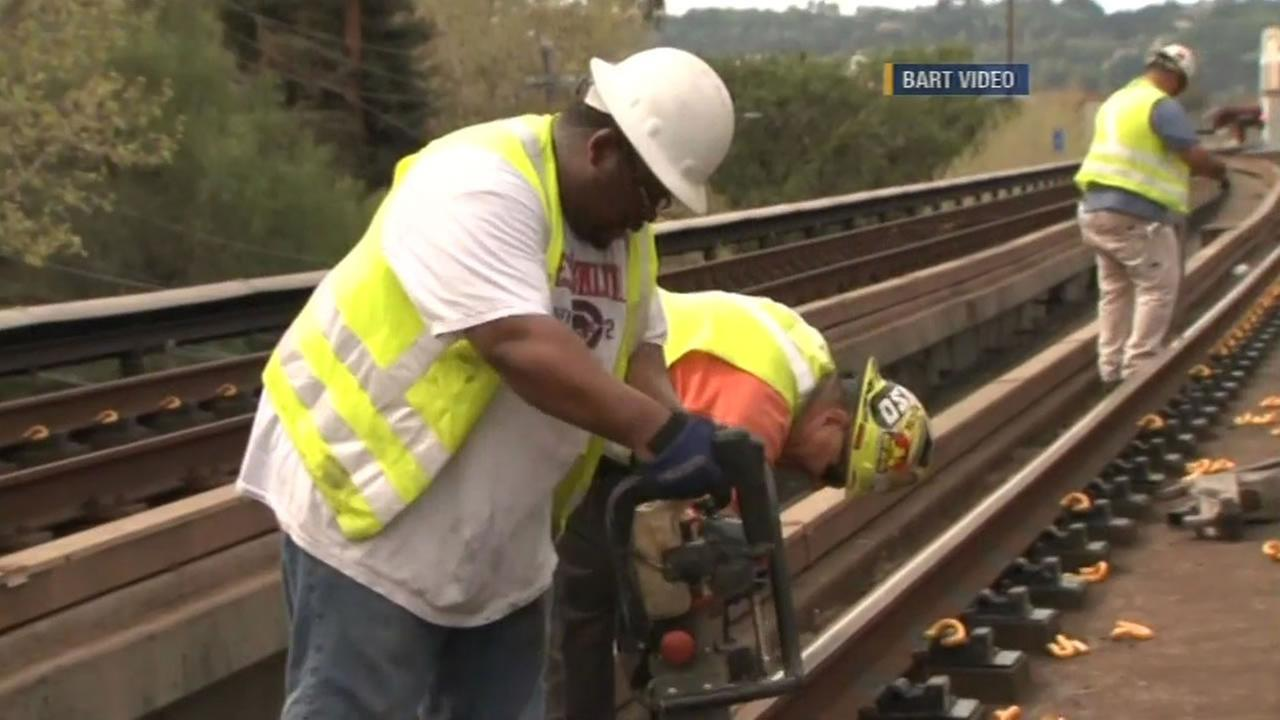 BART will be installing new pads under about 1,000 feet of track between the Fruitvale and Coliseum stations from Now until August and and that could cause delays.