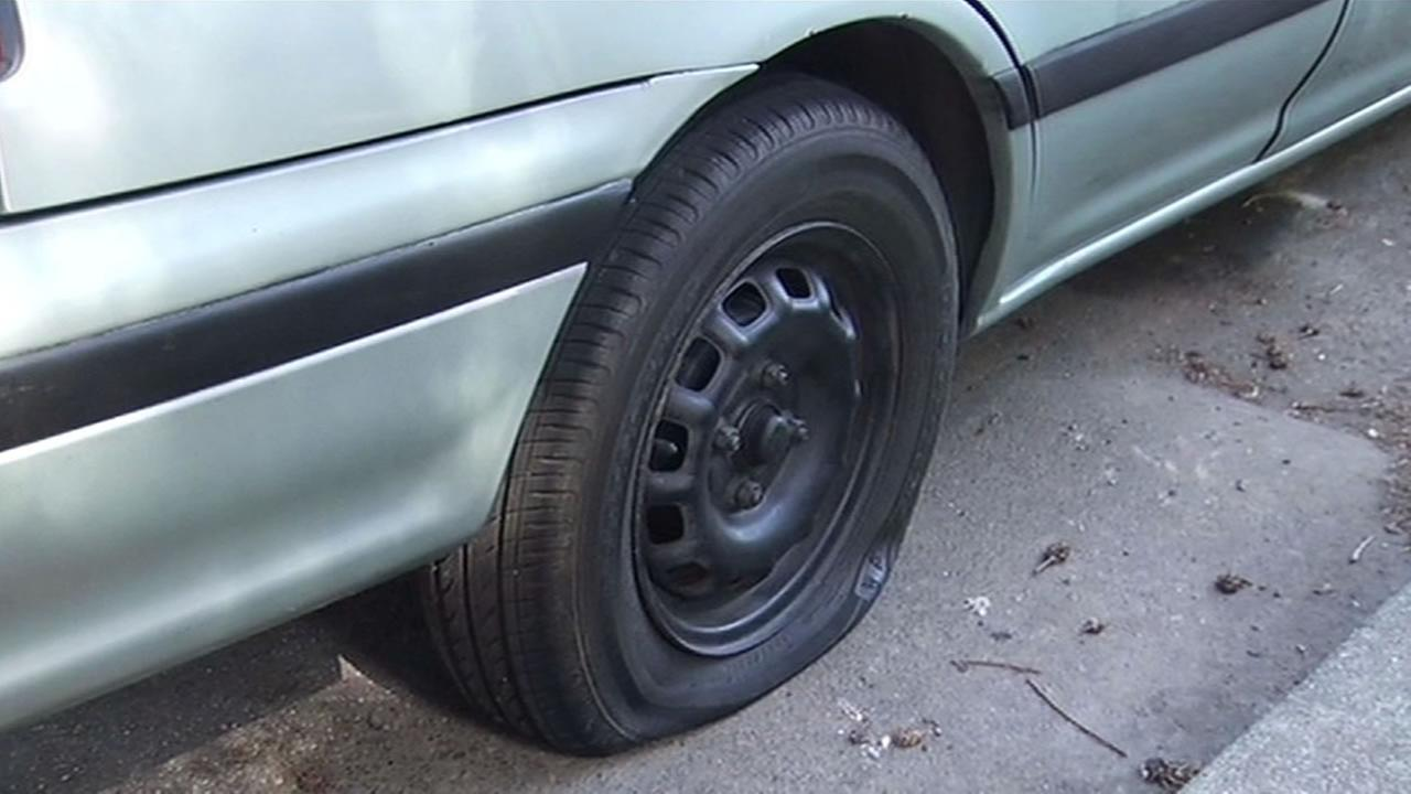 Tires slashed on 40 cars on Fourth Street in Novato.