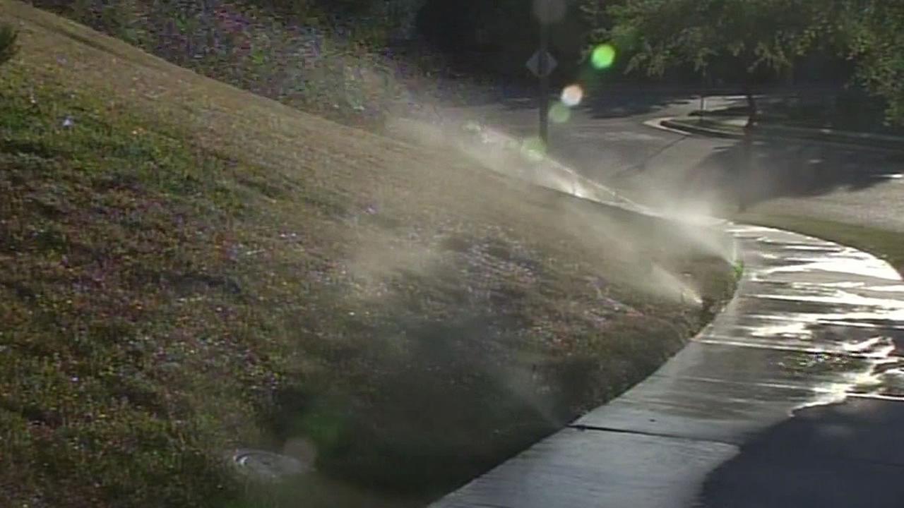 Sprinklers on in San Jose