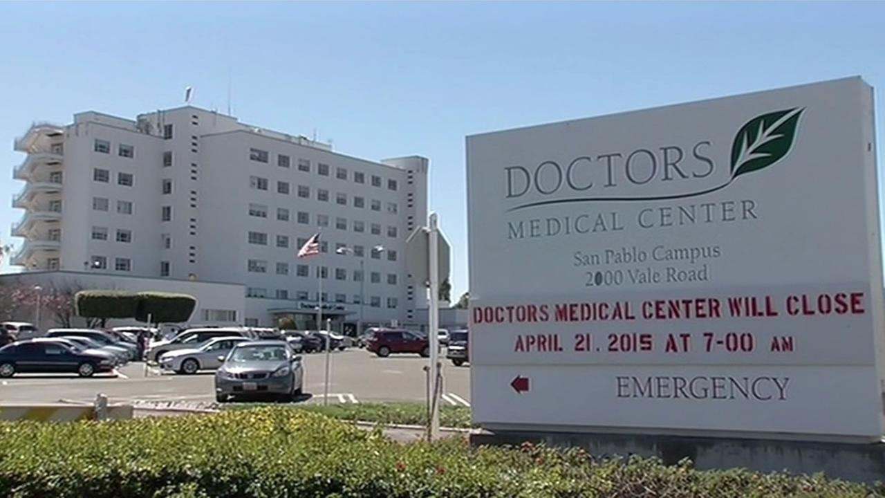 Doctors Medical Center in San Pablo is closing on Tuesday, April 21.