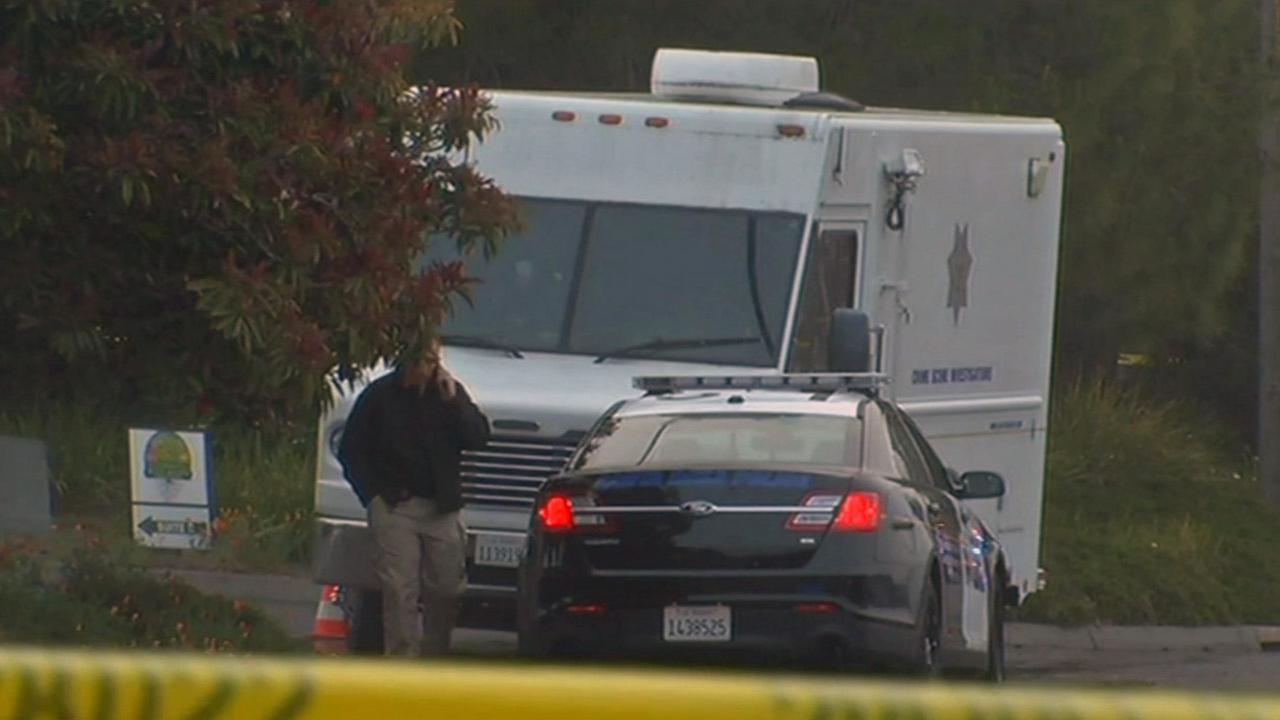 Police investigate officer-involved shooting in Sonoma County, April 23, 2015.