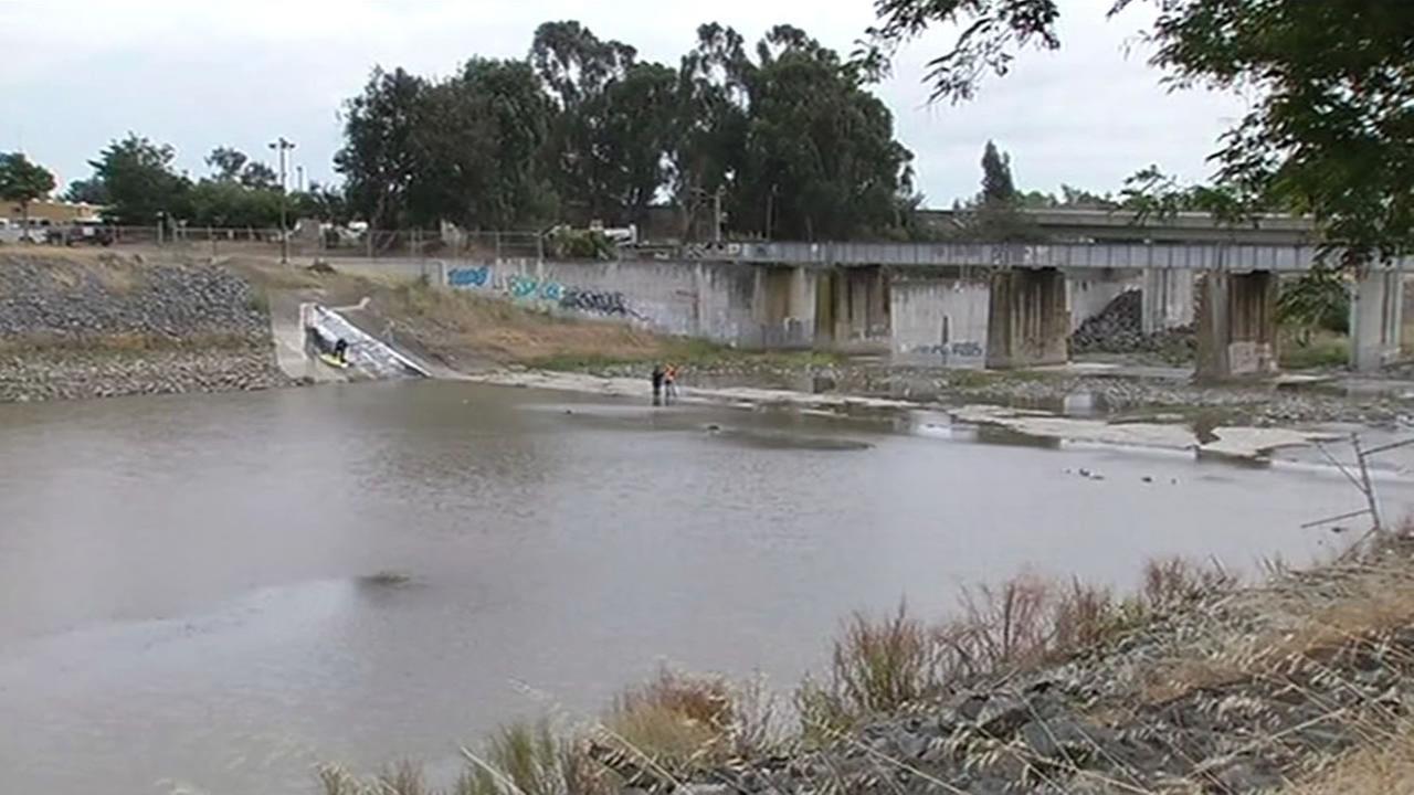 dam used to span Alameda County creek