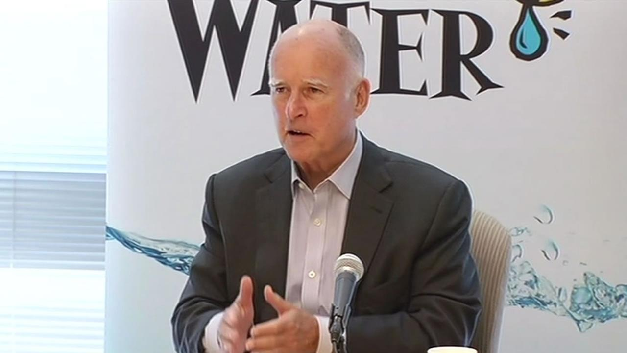 Governor Brown was in the South Bay today promoting water conservation as part of plan to enforce mandatory water reductions.