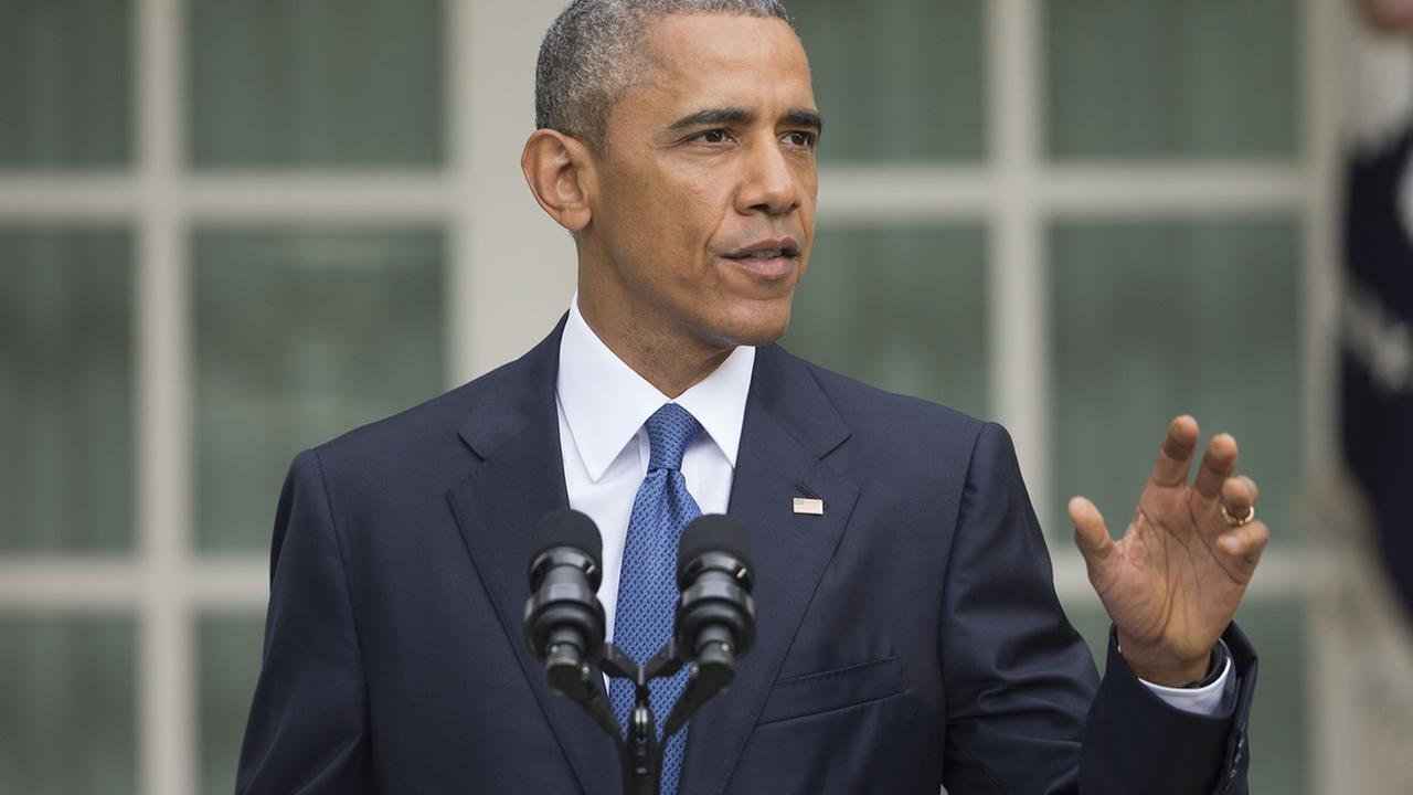 President Barack Obama speaks on Friday, June 26, 2015, after the Supreme Court declared that same-sex couples have the right to marry anywhere in the US.
