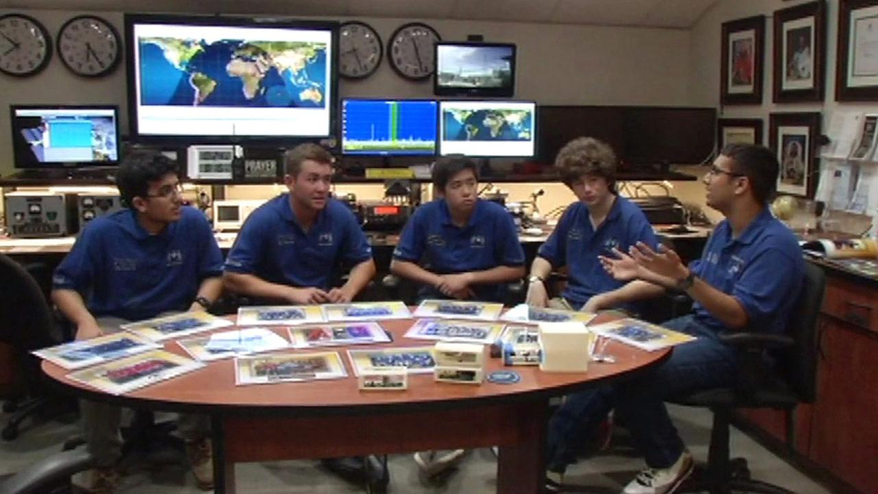 Students at Valley Christian School in San Jose who gave supplies to SpaceX rocket that exploded.