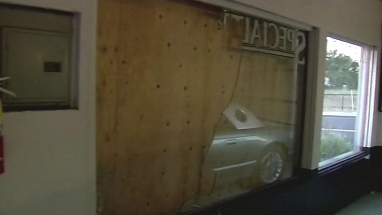 Pleasanton auto dealership vandalism