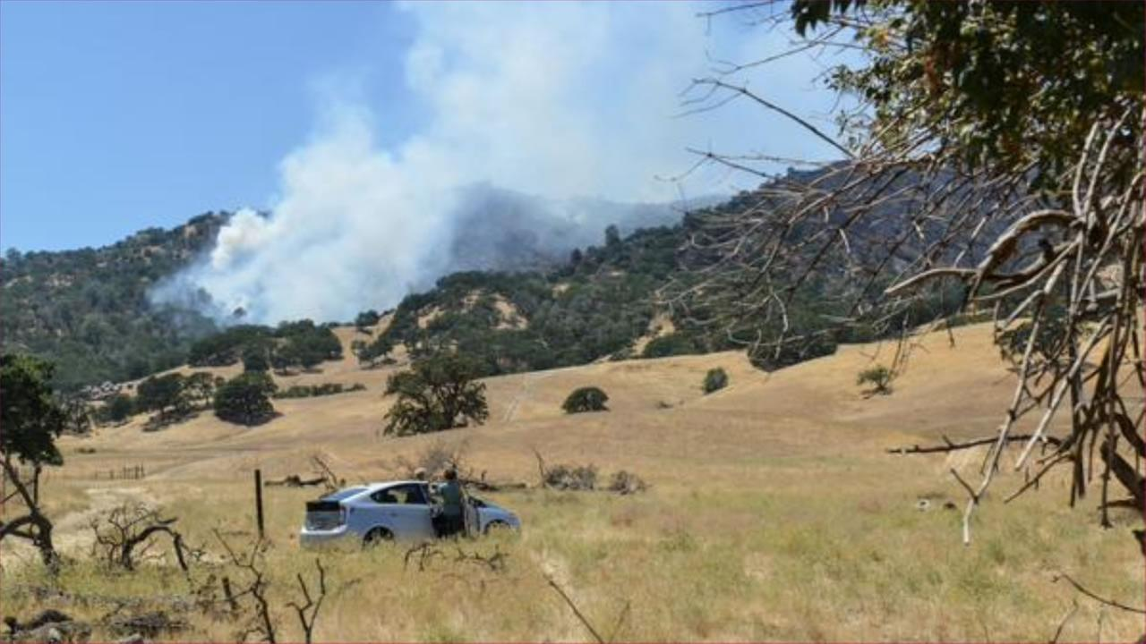 Firefighters are continuing to battle a the Wragg Fire burning near lake Berryessa, July 24, 2015.