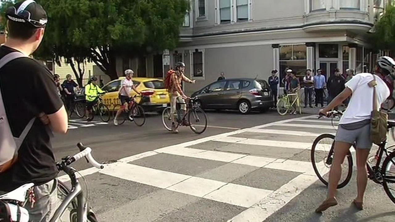 San Francisco bike protest