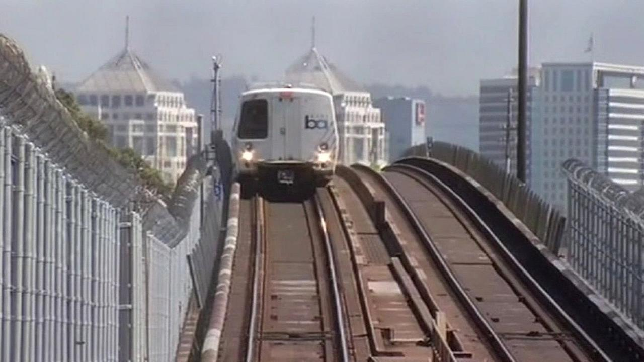 FILE - A BART train is seen in this undated image.