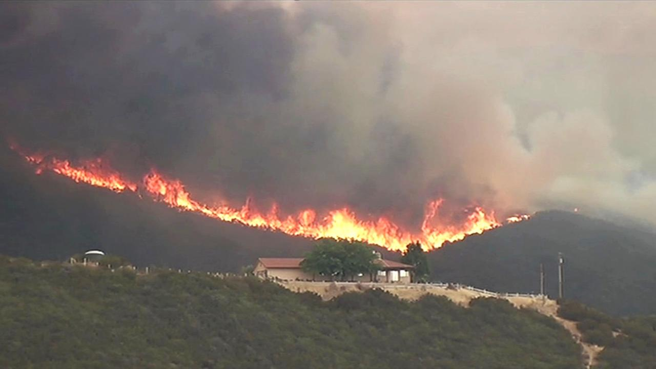 Officials said the Rocky Fire near Clear Lake has expanded and is expected to reach Highway 20 on Saturday, August 1, 2015.