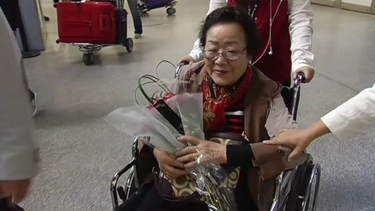 Yong Soo Lee, 87, who was a comfort woman during World War II, was given a comendation Tuesday, Sept. 15 by San Francisco Supervisor Eric Mar.
