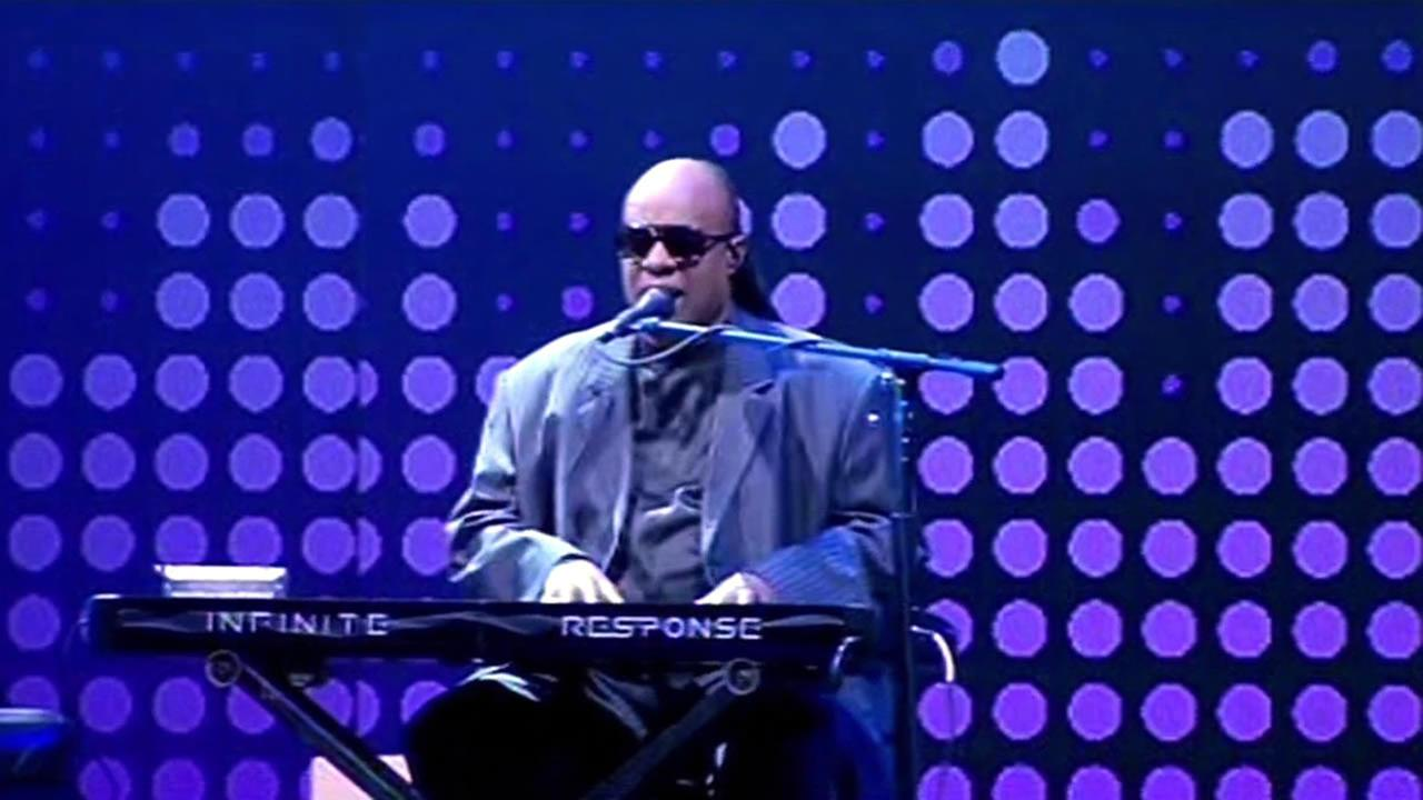 Stevie Wonder rocked out in front of a large crowd at the annual Dreamforce convention in San Francisco on Wednesday, September 16, 2015.