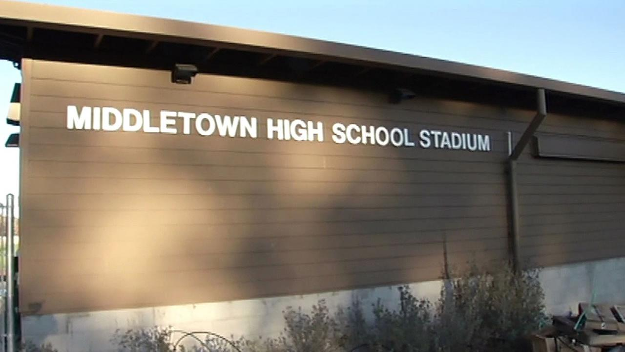 Middletown High School football stadium sign