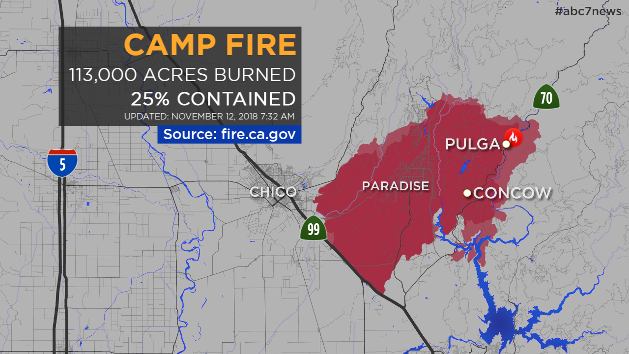 MAPS: A look at the Camp Fire in Butte County and other California