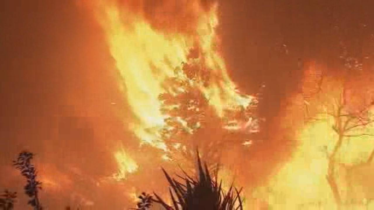 This image shows Camp Fire burning in Butte County.
