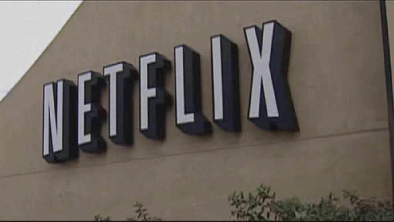 This undated image shows sign of Netflix based Los Gatos.