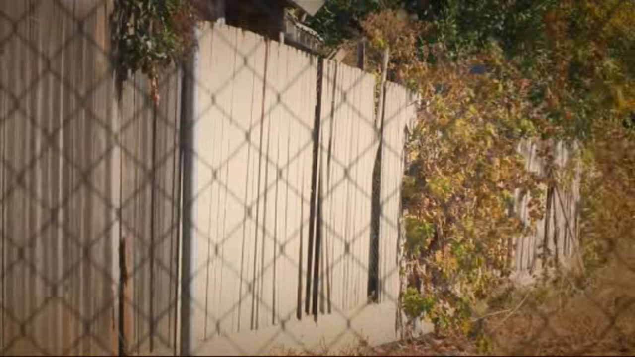 This undated image shows the fence of a Modesto home where investigators say human remains were found by a resident burying their deceased pet.