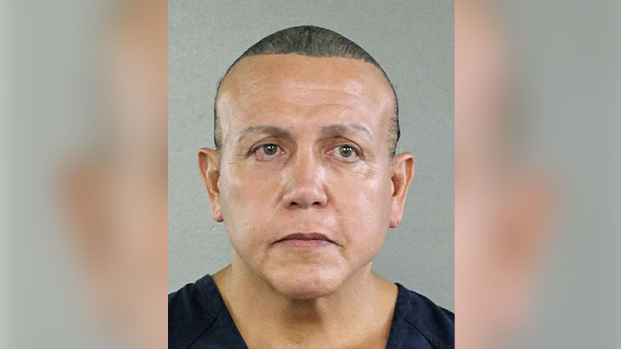 This Aug. 30, 2015, file photo shows Cesar Sayoc in Miami. Pipe bomb suspect Sayoc is making his first court appearance in New York on Tuesday, Nov. 6, 2018.
