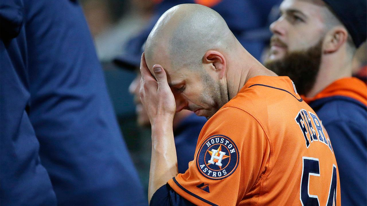 Houston Astros starting pitcher Mike Fiers