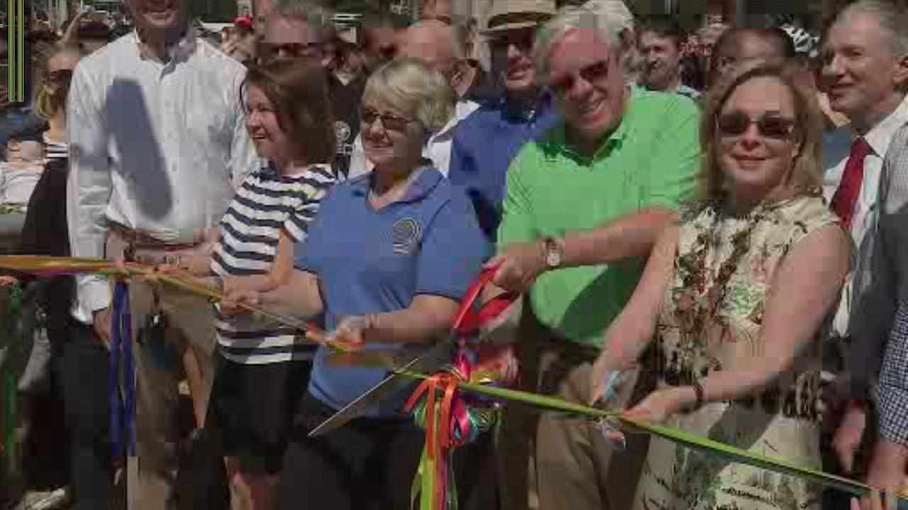 Buffalo  Bayou Park re-opening ceremony